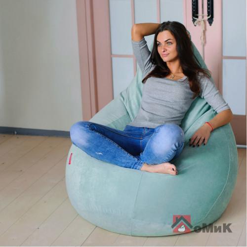 Кресло-мешок Босс Пудра Лазурь