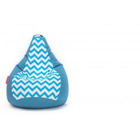 Кресло-мешок БинБэг Крок голубой