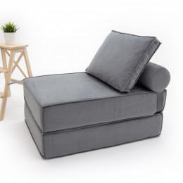Бескаркасный диван-кровать Коста Баланс Грей внешние швы