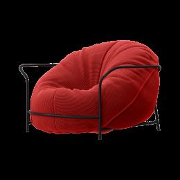 Дизайнерское кресло Uni Красный с каркасом