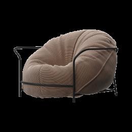 Дизайнерское кресло Uni Бежевый с каркасом
