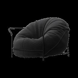 Дизайнерское кресло Uni Черный с каркасом