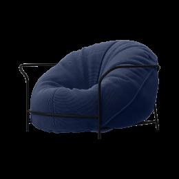 Дизайнерское Кресло Uni Темно-синий с каркасом