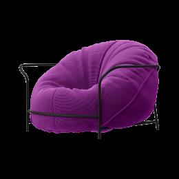 Дизайнерское кресло Uni Фиолетовый с каркасом