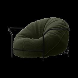 Дизайнерское кресло Uni Хаки с каркасом