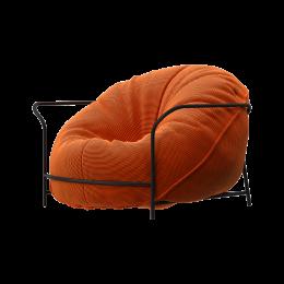 Дизайнерское кресло Uni Оранжевый с каркасом