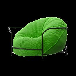 Дизайнерское Кресло Uni Салатовый с каркасом