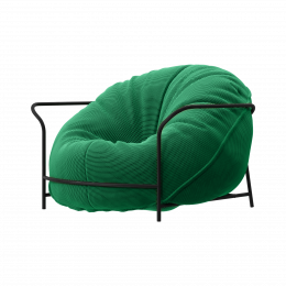 Дизайнерское кресло Uni Трава с каркасом