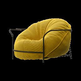 Дизайнерское кресло Uni Жёлтый с каркасом
